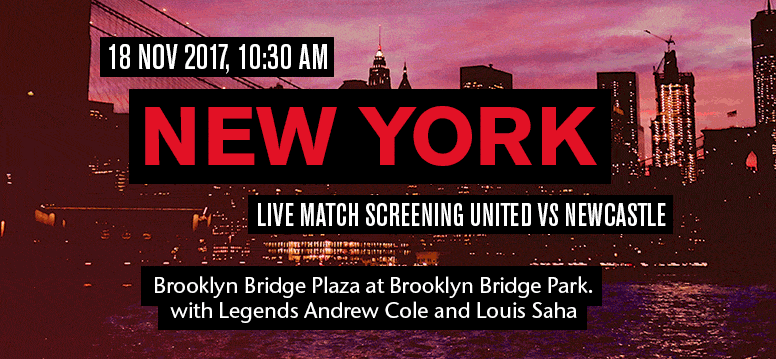live screening of the Premier League home game against Newcastle United on Saturday, November 18 at Brooklyn Bridge Plaza at Brooklyn Bridge Park.