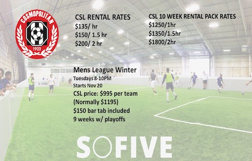 Play this winter @ SoFive Soccer Complex!